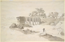 A ruined bridge near Benares (U.P.). 13 December 1789